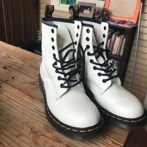 Brand New White Doc Martens (Size 8)